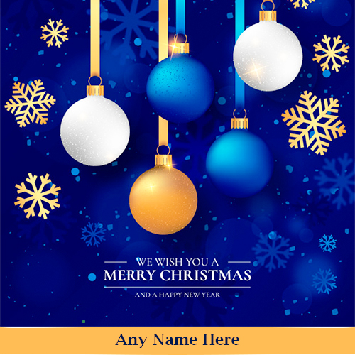 Merry Christmas And Happy New Year In Advance Wishes With Your Name