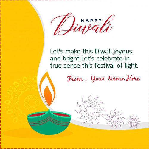 Happy Diwali 2019 Wishes Greeting Cards With Name