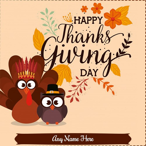 28th November 2019 Thanksgiving day images with name