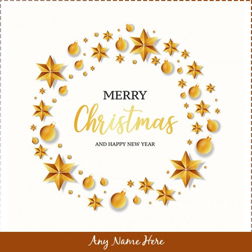 Merry Christmas And Happy New Year 2019 With Own Name