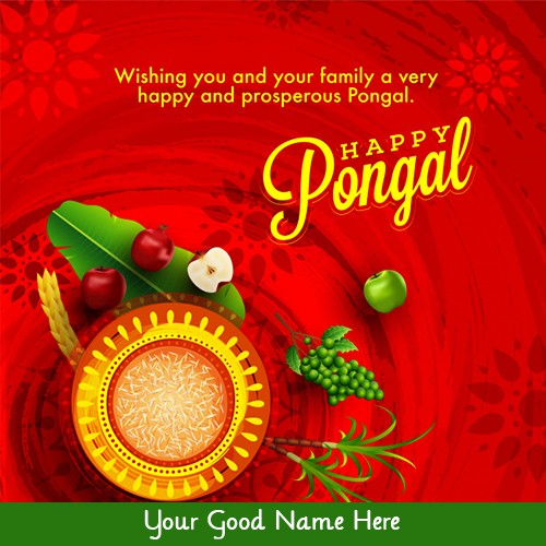 Happy Pongal 2020 Card Photo With Name