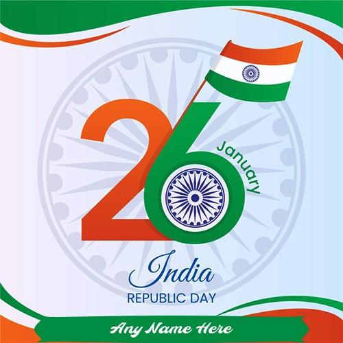 Write Name On India Flag 26 January Republic Day 2020 Images
