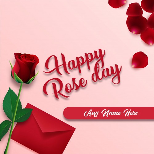 Red Rose Day 2020 Image With Name