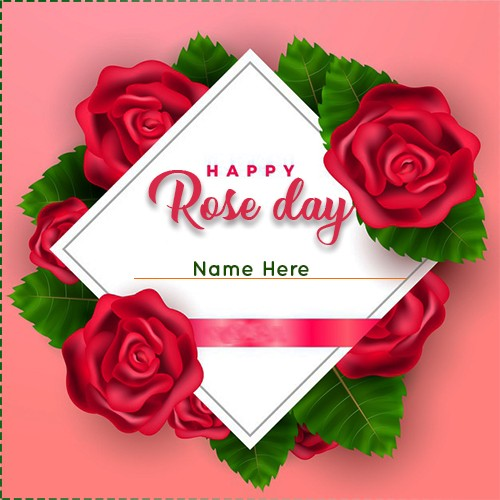 Happy Rose Day 2020 Card For Lover With Name