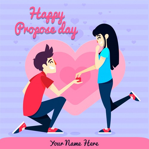 Propose Day 2020 Card Images For Girlfriend With Name