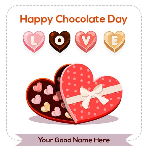 Chocolate Day 2020 Image For Love With Name