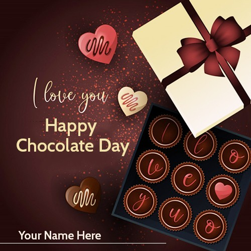 Chocolate Day 2020 Card Message With Name Edit