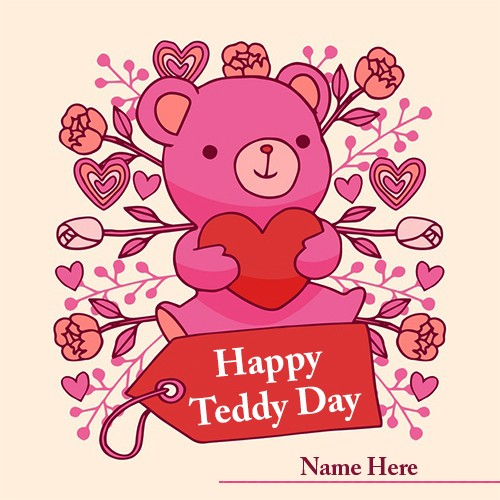 Happy Teddy Bear Day 2020 Image With Name