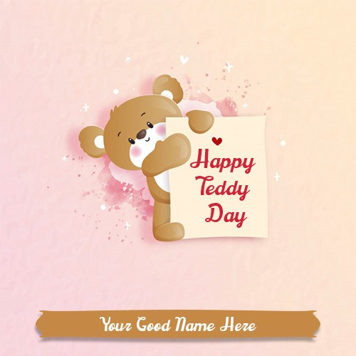 Happy Teddy Day 2020 Message Card With Name Edit