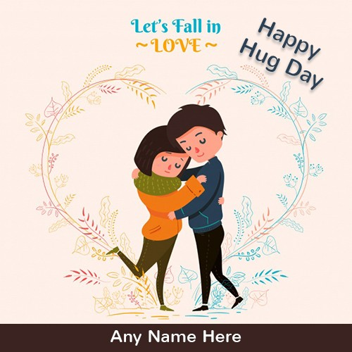 Happy Hug Day 2020 Cartoon Picture With Name