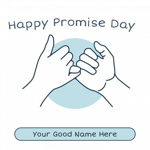 Happy Promise Day 2020 Pic With Name