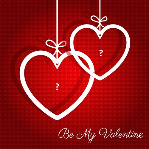 Valentine Day Alphabet Red Heart Photo With Couple Name