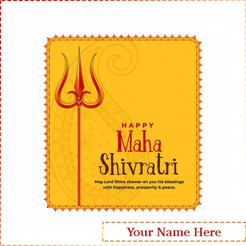 Happy Maha Shivratri 2020 Card With Name Editor