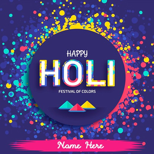 Happy Holi Colorful Images 2020 With Name