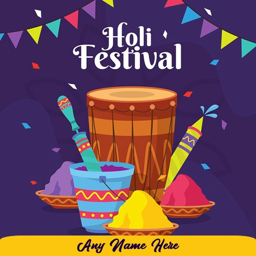 Happy Holi Festival 2020 images with name