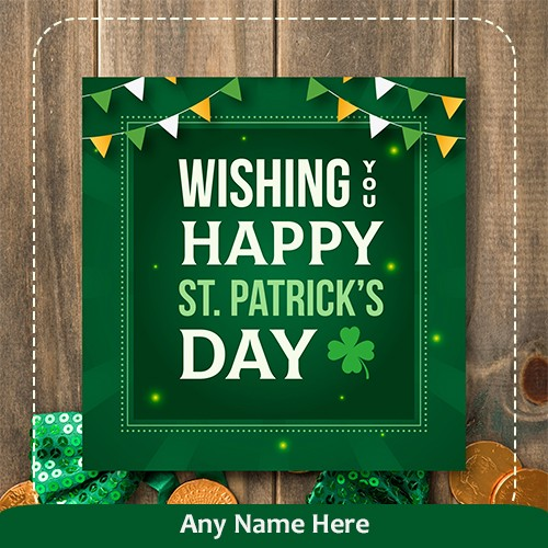 Wishing You Happy St. Patrick's Day image with name