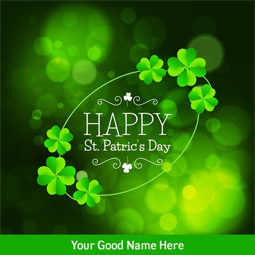 Happy St. Patrick's Day card with Name