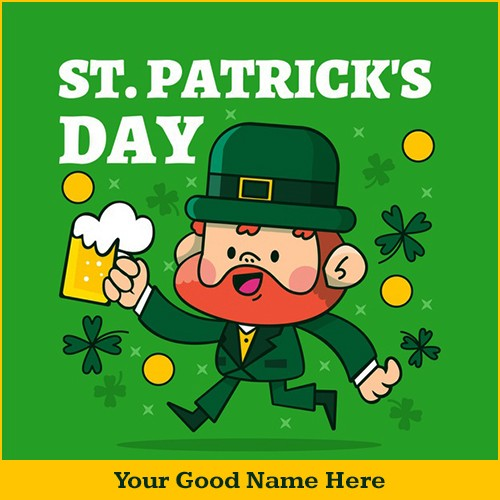 St. Patrick's Day 2020 Greetings Card With Name