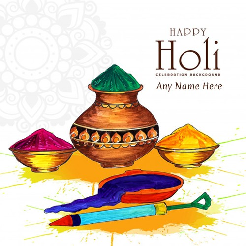 Happy Holi 2020 Images Wallpaper With Name
