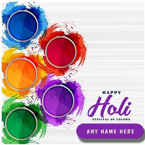 Wish You a Happy Holi 2020 with Name Editor