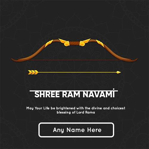 Happy Ram Navami 2020 Card With Name Editor