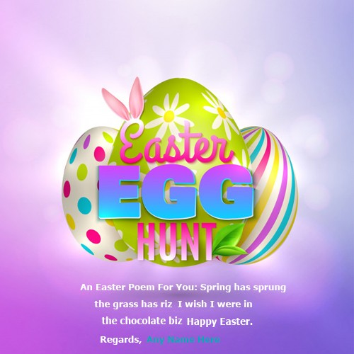 Happy Easter Card In English With Name
