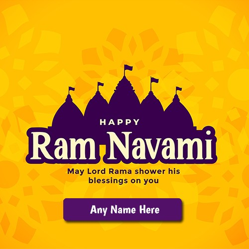Happy Ram Navami 2020 Greetings Card With Name