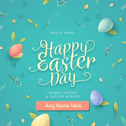 Happy Easter Day 2020 Greetings Card with Name