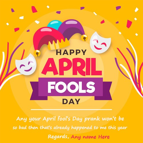 Happy April Fools Day 2020 Greeting Cards With Name