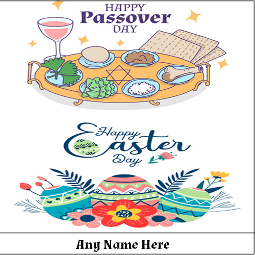 Happy Easter and Passover 2020 images with name