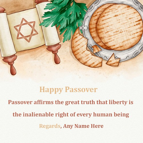 Happy Passover 2020 Card Message With Name