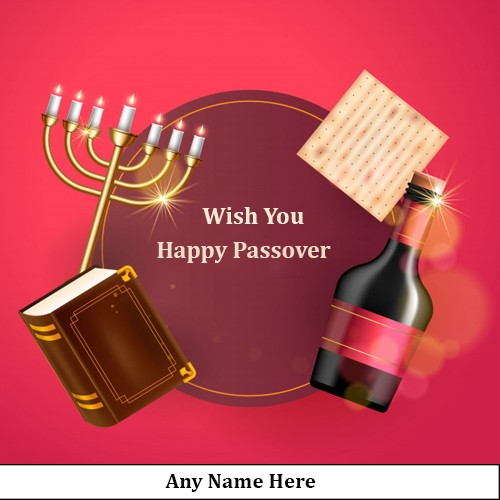 Write Name On Happy Passover 2020 Images For Facebook