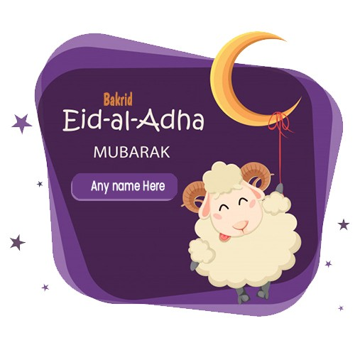 Bakra Eid Ul Adha Mubarak 2020 Pics With Name