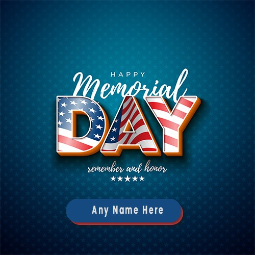 Memorial Day 2020 Card In Advance With Name